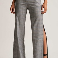 Glen Plaid Side-Split Pants