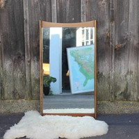 Large Midcentury Danish Modern Wall Mirror