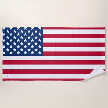 United States Flag Beach Towel