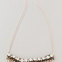 Adia Kibur Long Crystal & Fringe Necklace | SHOPBOP