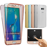 For Samsung Galaxy S7 Edge Case A5 2016 Case for Note 5 S6 J5 A3 Cover Soft TPU Full body Protective Crystal Clear Touch Case