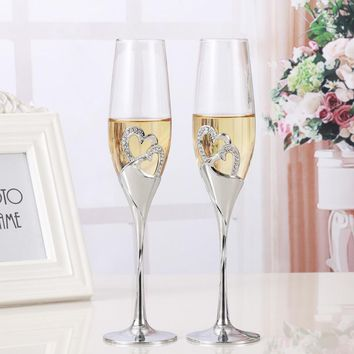 Wedding Wine Glasses for Bride and Groom