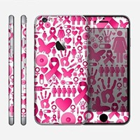 The Pink Collage Breast Cancer Awareness Skin for the Apple iPhone 6