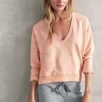 Marled V-neck Top - French Terry - Victoria's Secret