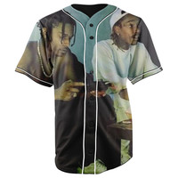 Wiz Khalifa and Asap Rocky Button Up Baseball Jersey