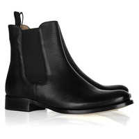 Jil Sander Textured-leather Chelsea boots