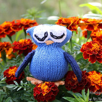 Toy Owl, handmade to order from eco friendly cotton yarn, yellow, green, pink, red or any other color combination, gift for kids and adults