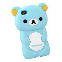 DC Apple iPhone 4S Rilakkuma: 3-D Case in Blue silicone case Protector