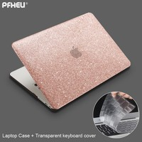 for Macbook Air Pro Retina 11 12 13 15 inch with Touch Bar New, PFHEU Shine Laptop Case + Transparent keyboard cover