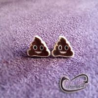 Fun Emoji Whatsapp Poop Earrings