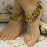 BELLA ankle bracelet - antique gold