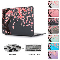Blossom Cherry tree in Black Color Cover Case For Macbook Pro Retina 13 15 Air 11 13 New Retina 12 Pro 13 15 Christmas gifts