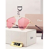 Dior Trending Ladies Personality Summer Sun Shades Eyeglasses Glasses Sunglasses Pink I-A-SDYJ