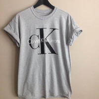 Classic old school ck1calvin klein top t-shirt festival unique swag indie ibiza