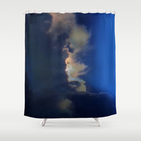 The Edge Of The Storm Shower Curtain by Jenartanddesign