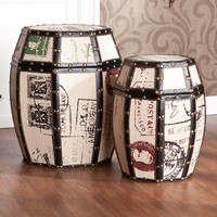 Wildon Home ® Mullins Vintage Storage Drums (Set of 2)