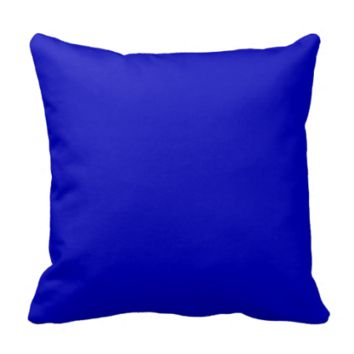 Solid Color Cobalt Blue Throw Pillows
