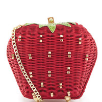 Betsey Johnson Strawberry Straw Cross-Body Bag | Dillards
