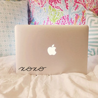 XOXO Vinyl Decal - Vinyl Decal - Laptop Decal - Car Decal - Macbook Decal - Laptop Sticker - Macbook Sticker - Gossip Girl - xoxo