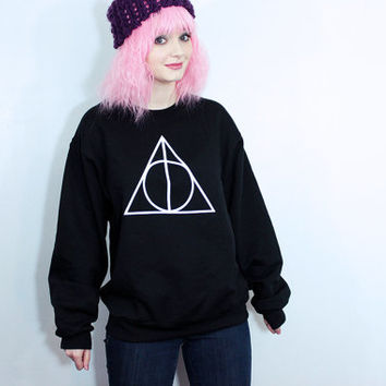 Deathly Hallows Sweatshirt - Many sizes available - Books Phoenix Deathly Chamber