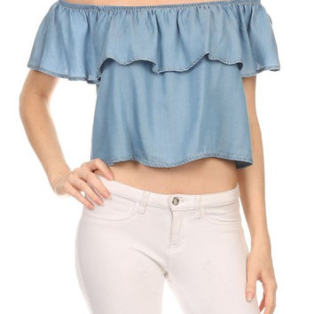 Tencel Off Shoulder Top - Final Sale