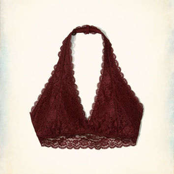 Gilly Hicks Lace Halter Bralette With Removable Pads | Gilly Hicks Bralettes | HollisterCo.com