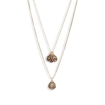 Multi Coin Charm Necklace