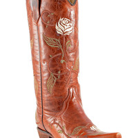 Circle G Women's Single Embroidered Rose Cowgirl Boots | Circle G Boots