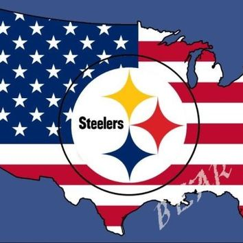 Pittsburgh Steelers Pennant 3x5ft polyester banner NFL Pittsburgh Steelers American flag 150 * 90 cm