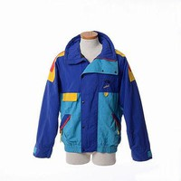 Vintage 80s The North Face Vertical Gore-Tex Color Block Ski Jacket 1980s Mod Snow Bea
