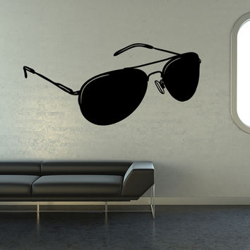 Vinyl Wall Decal Sticker Aviator Sunglasses #OS_MB1106