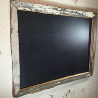 18x24 | Distressed White Repurposed Wood chalkboard | Chipped Paint | 1 of 1 Reclaimed Lowcountry Original | Anitque Rustic | Charleston