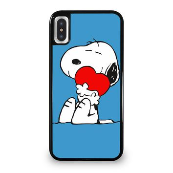 SNOOPY LOVE HEART iPhone 5/5S/SE 5C 6/6S 7 8 Plus X/XS Max XR Case Cover