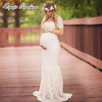 Maternity Dress - Maternity Photography Props - Lace Dress - Pregnancy Clothes