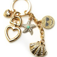 Pave Shell & Charms Keyfob by Juicy Couture