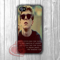 The breakfast club Brian quotes - Fzia for iPhone 4/4S/5/5S/5C/6/ 6+,samsung S3/S4/S5,samsung note 3/4