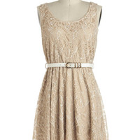 ModCloth Mid-length Sleeveless A-line Sweet Cider Dress