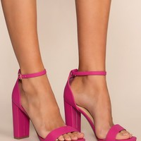 Steal Your Attention Heels - Hot Pink