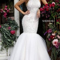 Sherri Hill 32316 Beaded Mermaid Prom Dress