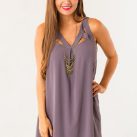 Cinque Crossover Dress in Grey