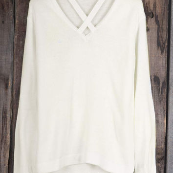 Cupshe School Girl Cross High Low Sweater