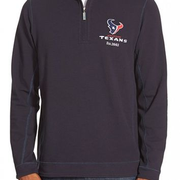 Men's Tommy Bahama 'Ben & Terry - Houston Texans' NFL Quarter Zip Pullover,