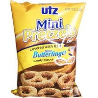 Utz Pretzels, Covered with Nestle® Butterfinger®, 6oz Bag (Pack of 3)