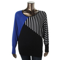 Alfani Womens Knit Dolman Sleeves Pullover Sweater