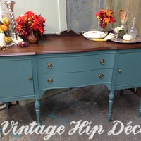 Federal Style, Vintage Sideboard, Dining Room S...