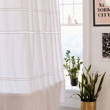 Ladder Lace Shower Curtain | Urban Outfitters