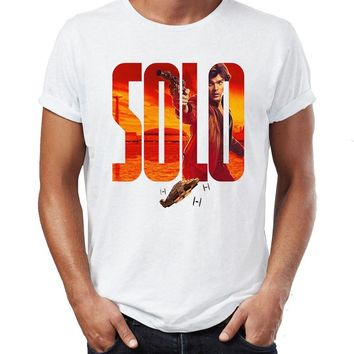 Star Wars Force Episode 1 2 3 4 5 Men's T Shirt Solo Chewbacca Chewie Lando Qi'Ra Qira Team Smuggler Han Solo A  Story Artsy Tee AT_72_6