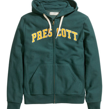 H&M - Hooded Jacket - Dark green - Men