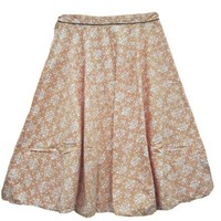 Long Indian Skirt Cotton Beige Printed Maxi Skirts India Clothing