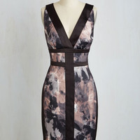 Sleeveless Sheath Philanthropic Art Auction Dress